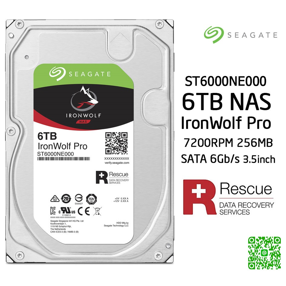 Ổ cứng HDD Nas Seagate Ironwolf Pro 6TB